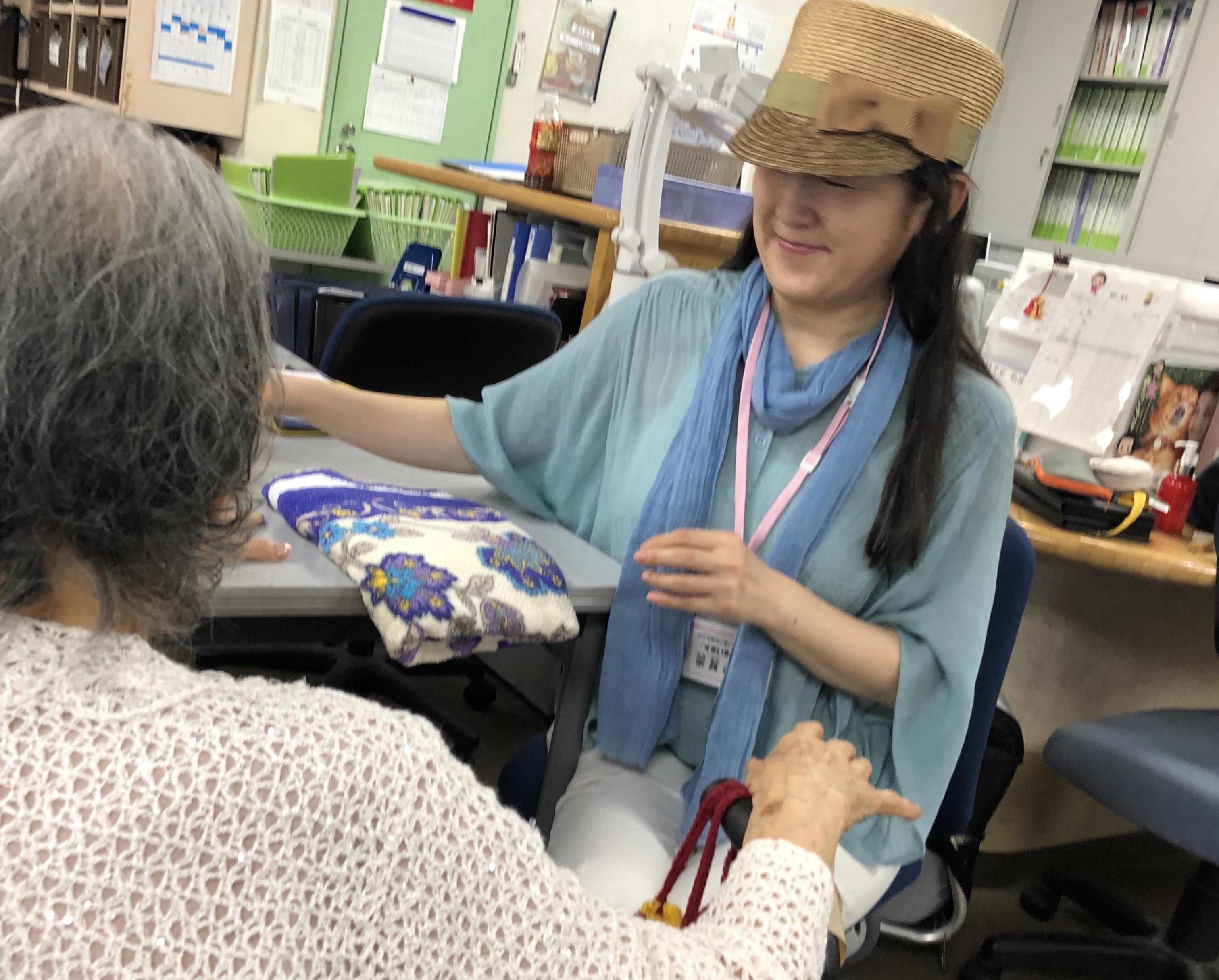 八月のすまいる小町さん・笑顔が嬉しい活動でした。
